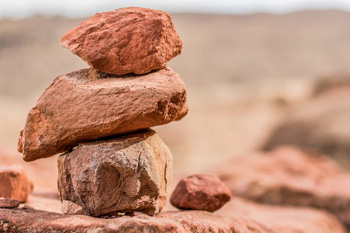 rocks stacked up