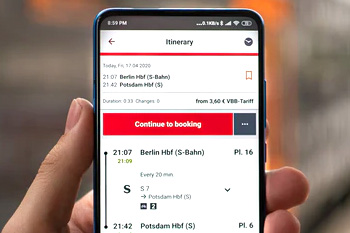 booking on a mobile phone