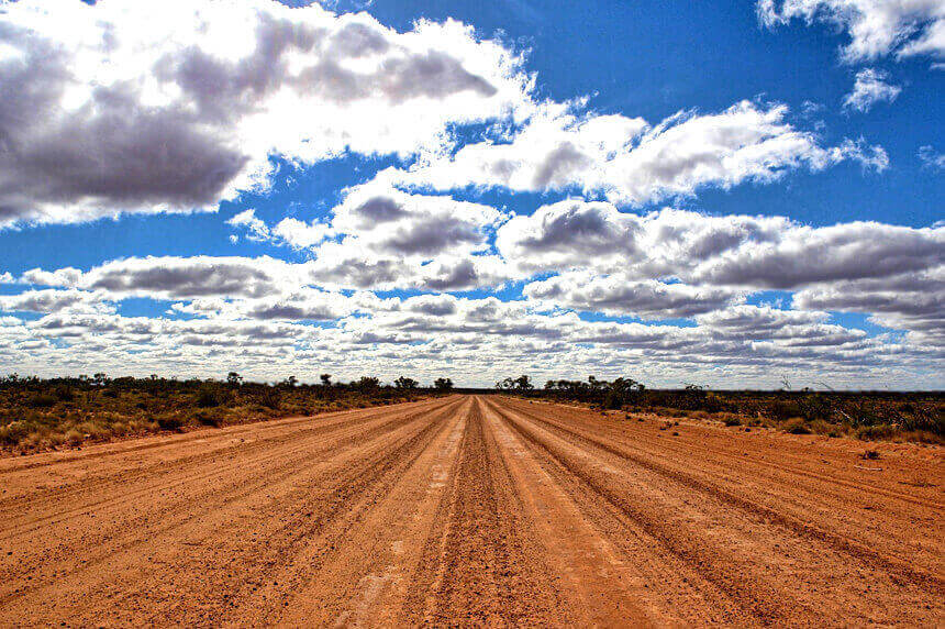 outback unsealed road